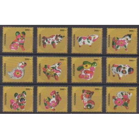 Tanzanie - 2010 - No 3668/3679 - Horoscope