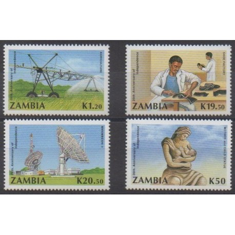 Zambie - 1990 - No 518/521 - Histoire