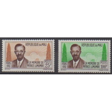 Mali - 1962 - No 33/34 - Célébrités
