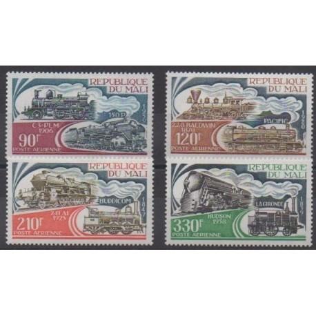 Mali - 1974 - No PA224/PA227 - Chemins de fer - Neufs avec charnière