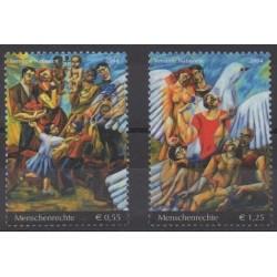 Nations Unies (ONU - Vienne) - 2004 - No 442/443 - Peinture - Droits de l'Homme