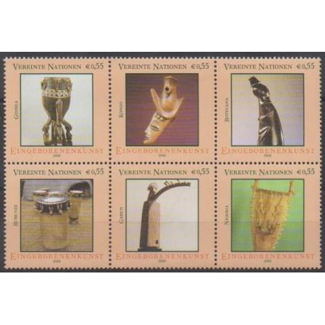 Nations Unies (ONU - Vienne) - 2006 - No 466/471 - Art