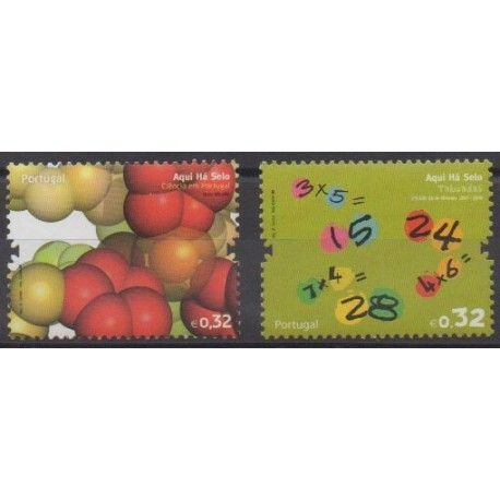 Portugal - 2009 - No 3370/3371 - Sciences et Techniques