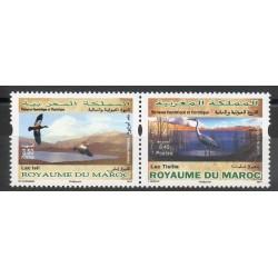 Maroc - 2014- No 1694/1695 - Oiseaux