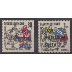 Tchécoslovaquie - 1972 - No 1917/1918 - Sports divers
