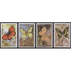 Zambie - 1997 - No 651/654 - Insectes