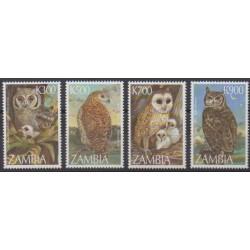 Zambie - 1997 - No 668/671 - Oiseaux