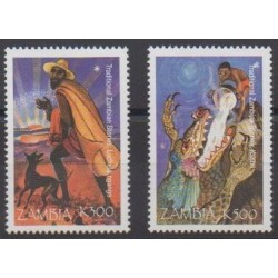 Zambie - 1998 - No 779/780 - Littérature