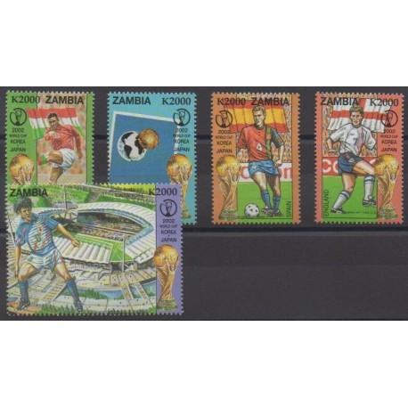 Zambie - 2002 - No 1178/1182 - Coupe du monde de football