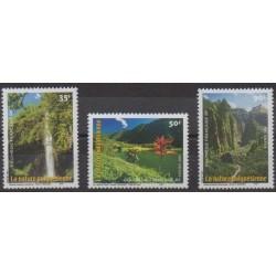 Polynésie - 2001 - No 634/636 - Sites