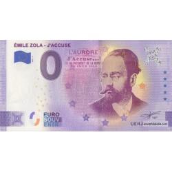 Euro banknote memory - 37 - Emile Zola - J'Accuse - 2021-4 - Anniversary