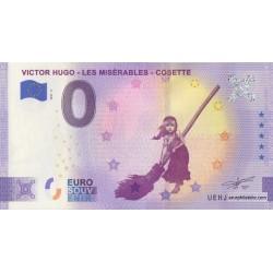 Euro banknote memory - 37 - Victor Hugo - Les Miserables - Cosette - 2021-5 - Anniversary