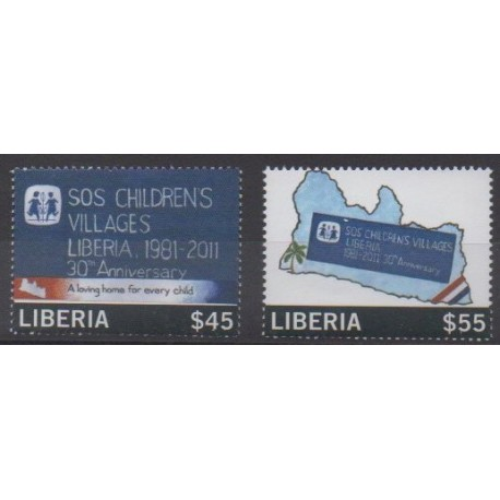 Liberia - 2012 - No 5164/5165 - Enfance