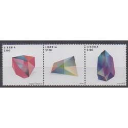 Liberia - 2013 - Nb 5218/5220 - Minerals - Gems