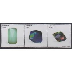 Liberia - 2013 - Nb 5188/5190 - Minerals - Gems
