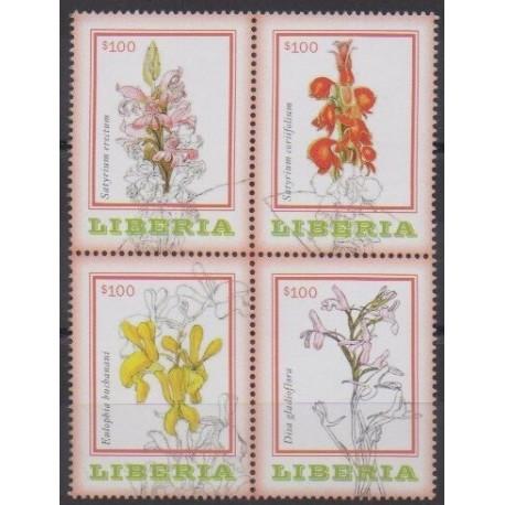 Liberia - 2014 - No 5446/5449 - Orchidées