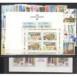 Europa - 1990 - 77 valeurs - 5 BF - 35 pays - Monuments