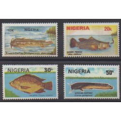 Nigeria - 1991 - Nb 575/578 - Sea life