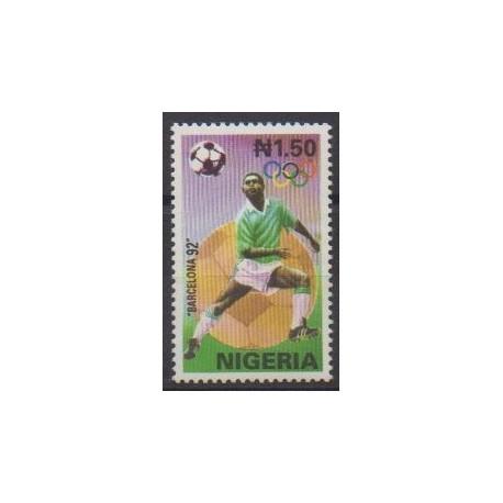 Nigeria - 1992 - No 581 - Jeux Olympiques d'été - Football