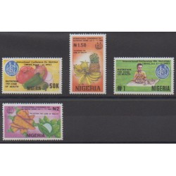 Nigeria - 1992 - Nb 596/599 - Fruits or vegetables