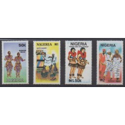 Nigeria - 1992 - Nb 600/603 - Costumes - Uniforms - Fashion - Folklore