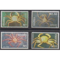 Nigeria - 1994 - Nb 631/634 - Insects - Sea life