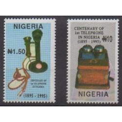 Nigeria - 1995 - No 651/652 - Télécommunications