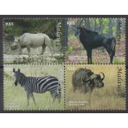 Malawi - 2009 - No 775/778 - Mammifères - Espèces menacées - WWF
