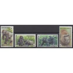 Nigeria - 2008 - Nb 795/798 - Mamals - Endangered species - WWF