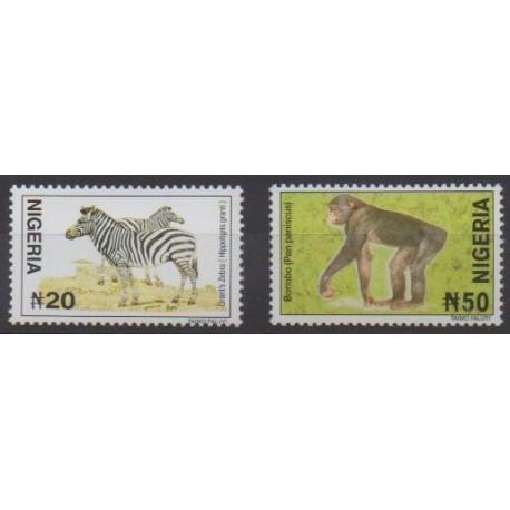 Nigeria - 2005 - No 726a et 730a - Mammifères