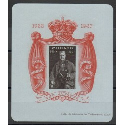Monaco - Blocs et feuillets - 1947 - No BF 2A - neuf sans charnière - papier bleuté