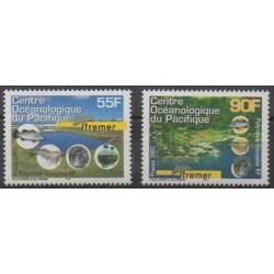 Polynésie - 2002 - No 674/675 - Sciences et Techniques - Vie marine