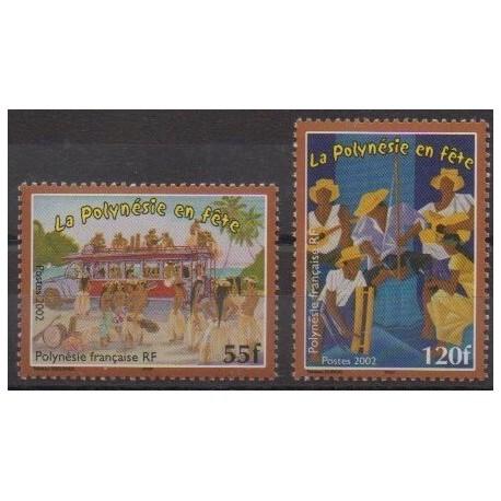 Polynésie - 2002 - No 680/681 - Folklore