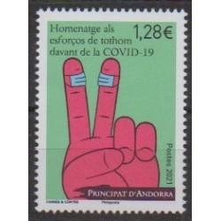 Andorre - 2021 - No 856 - Santé ou Croix-Rouge - Covid 19