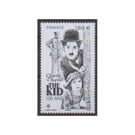 France - Poste - 2021 - No 5473 - Cinéma - Charlie Chaplin