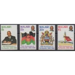 Malawi - 1986 - Nb 481/484 - Various Historics Themes