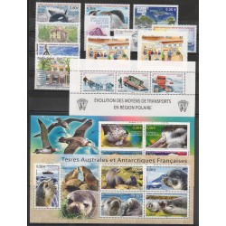 French Southern and Antarctic Territories - Complete year - 2010 - Nb 552/577 - BF23/BF24