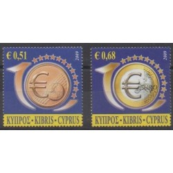 Cyprus - 2009 - Nb 1160/1161 - Coins, Banknotes Or Medals