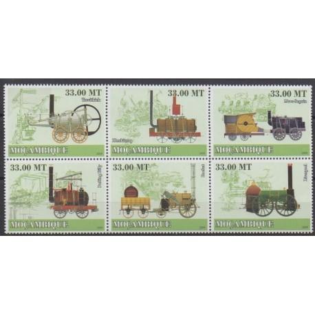 Mozambique - 2009 - No 2590/2595 - Chemins de fer