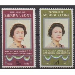 Sierra Leone - 1977 - No 403/404 - Royauté - Principauté