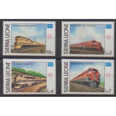 Sierra Leone - 1986 - No 719/722 - Chemins de fer