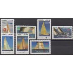 Sierra Leone - 1987 - No 779/785 - Navigation - Sports divers