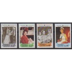 Sierra Leone - 1987 - No 872/875 - Royauté - Principauté