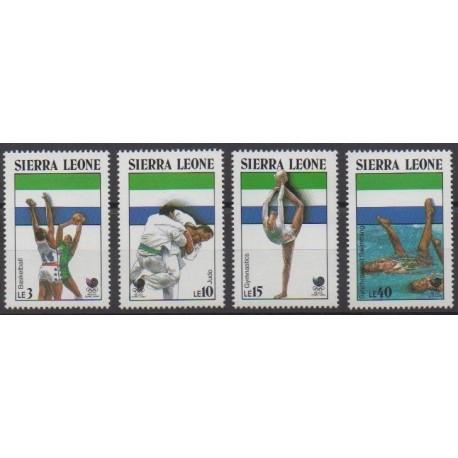 Sierra Leone - 1988 - No 890/893 - Jeux Olympiques d'été
