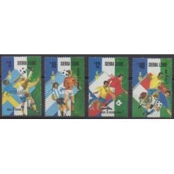 Sierra Leone - 1989 - No 942/945 - Coupe du monde de football