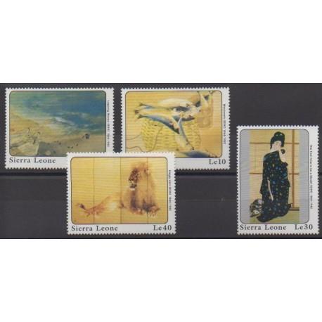 Sierra Leone - 1989 - No 962/965 - Peinture