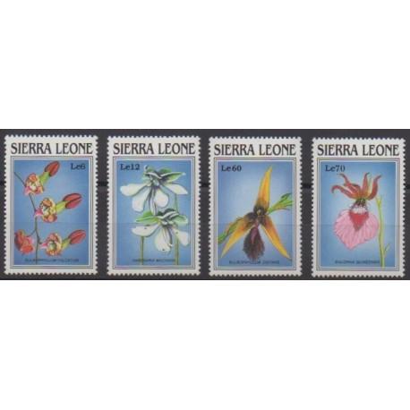 Sierra Leone - 1989 - No 1004/1007 - Orchidées