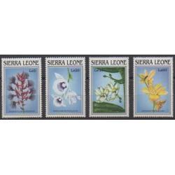 Sierra Leone - 1989 - No 1025/1028 - Orchidées