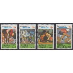 Sierra Leone - 1990 - Nb 1250/1253 - Summer Olympics