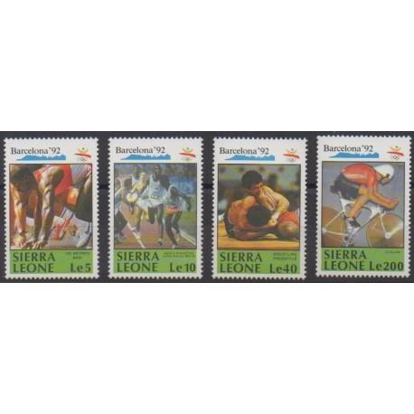 Sierra Leone - 1990 - No 1250/1253 - Jeux Olympiques d'été